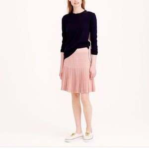 J. Crew • Pleated Pink Lattice Skirt